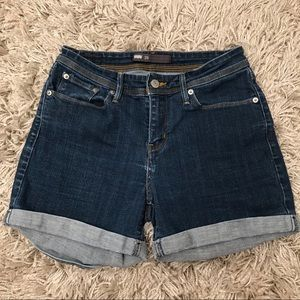 Levi's Mid Length Denim Jean Shorts Cuffed